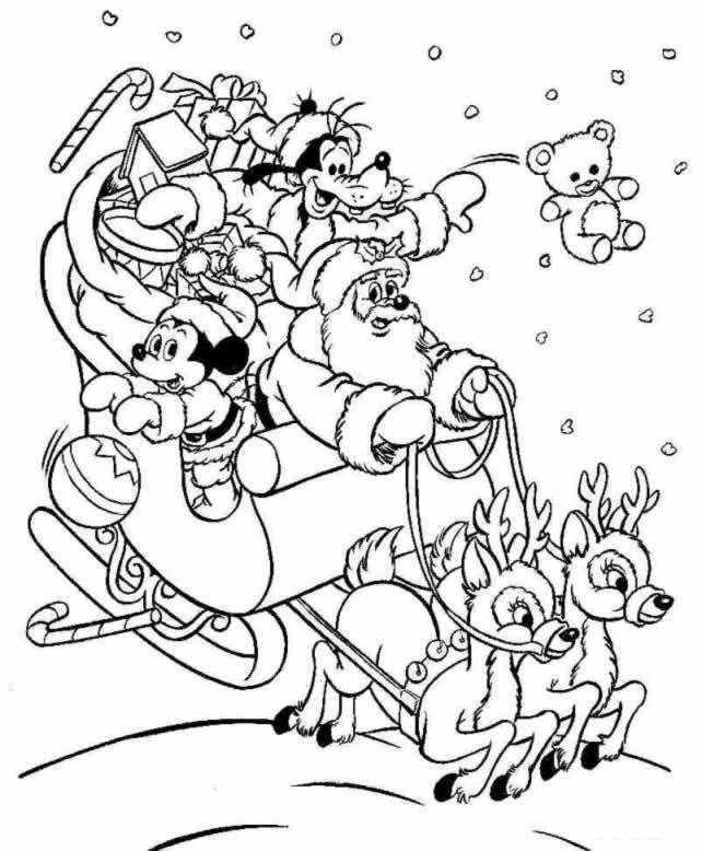 Coloriage Noel Disney